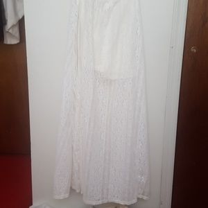 Sheer White Maxi shirt